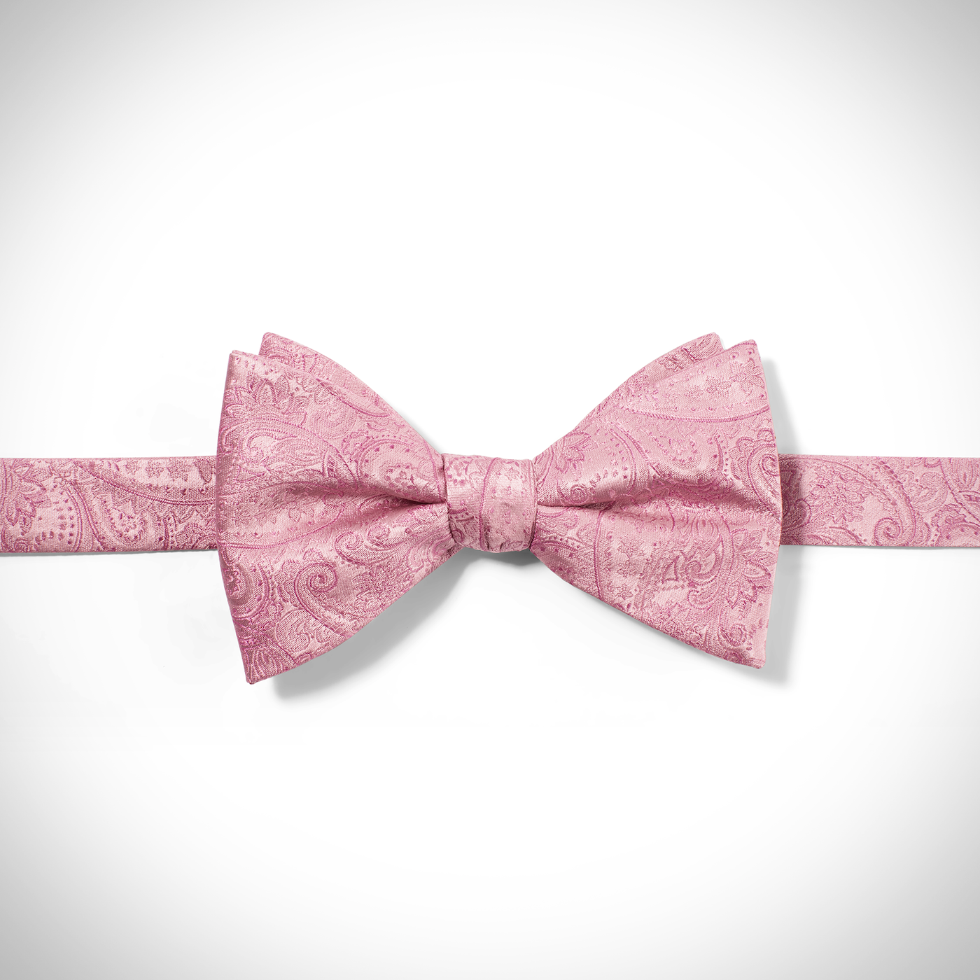 Pink Classic Paisley Pre-Tied Bow Tie