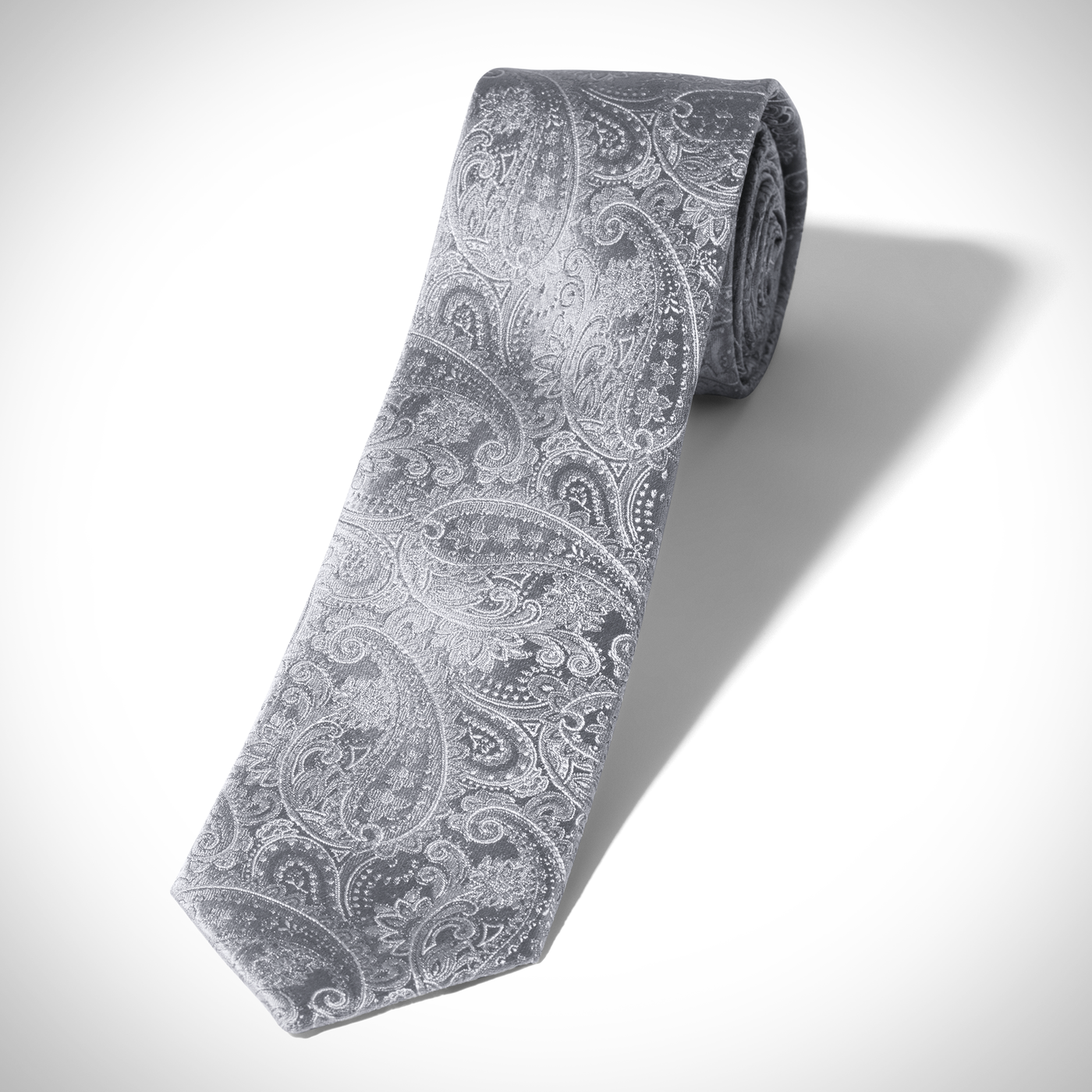Silver Paisley Tie