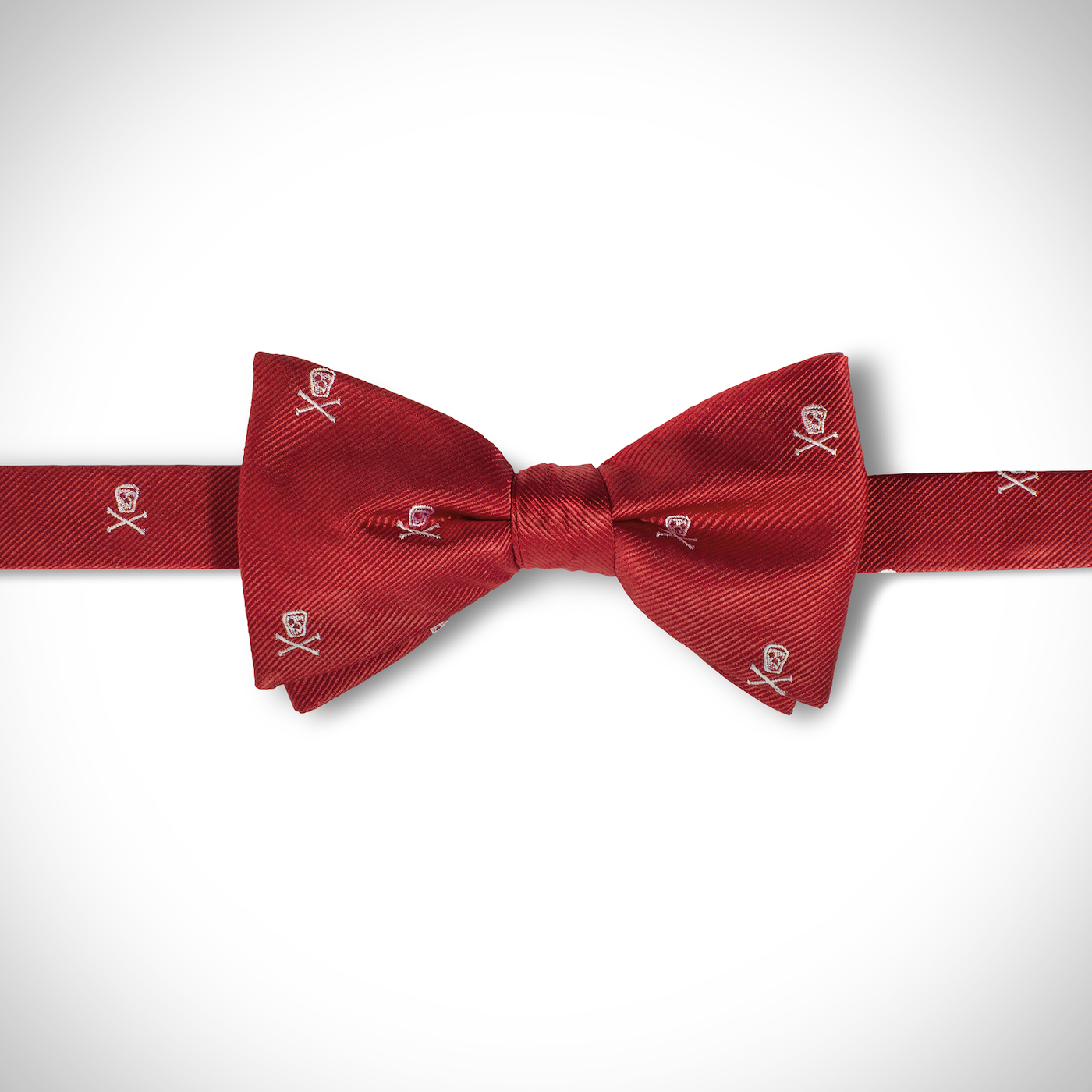 Red Skull Pre-Tied Bow Tie