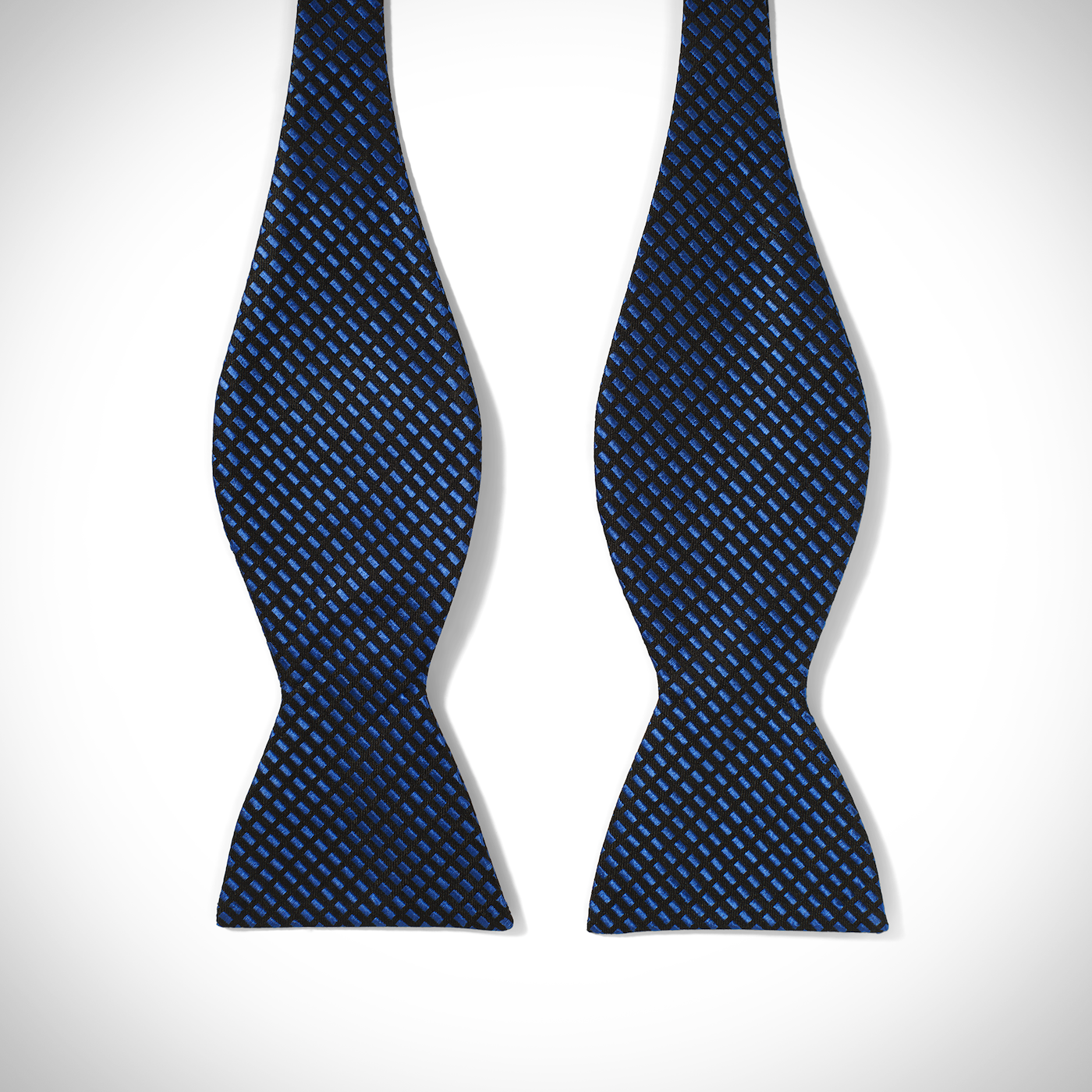 Blue Diagonal Dobby Bow Tie