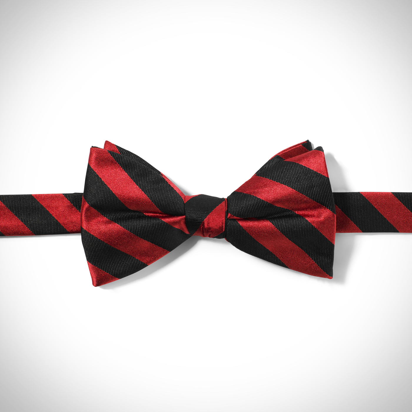 Red and Black Wide Stripe Bow Tie