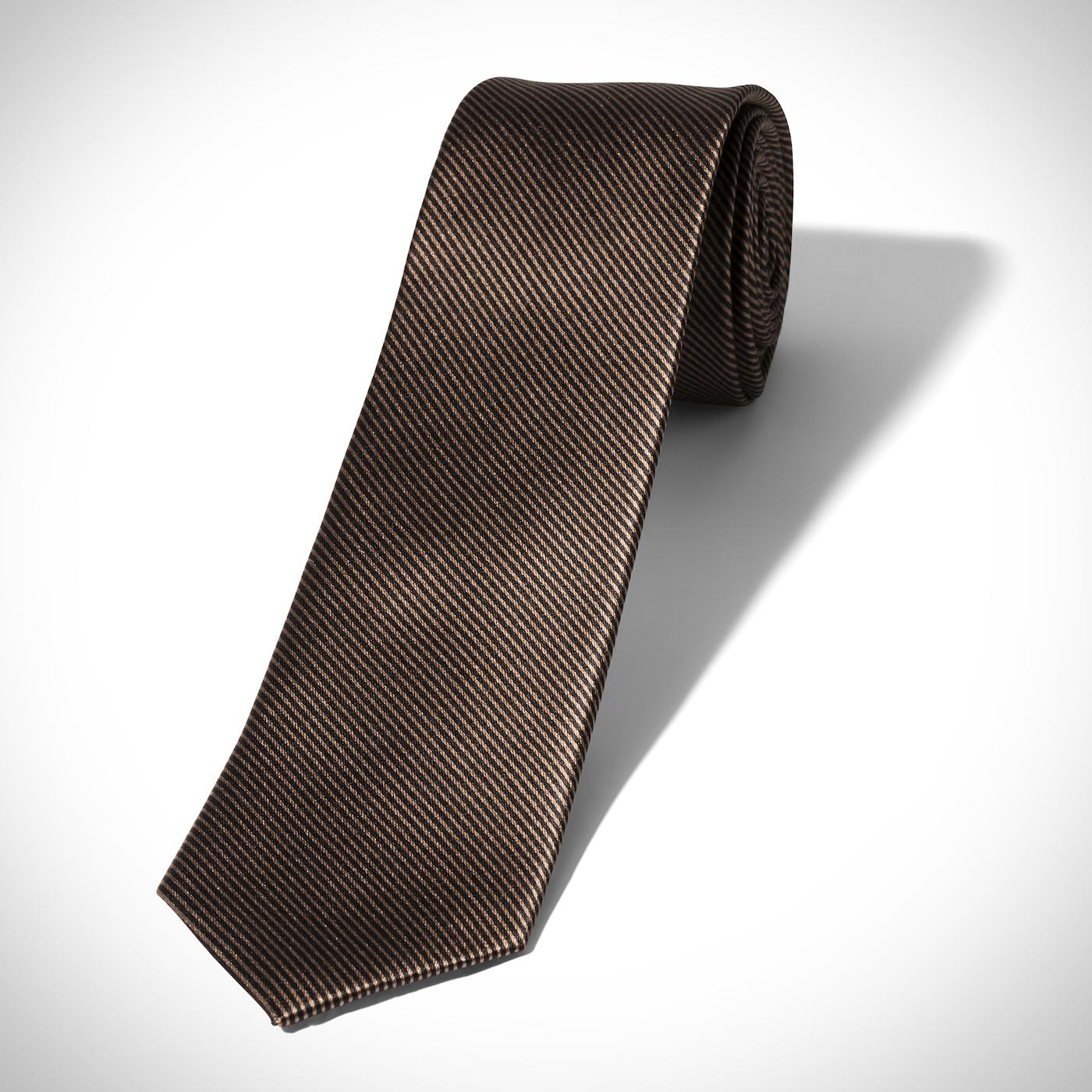 Taupe Thin Stripe Tie