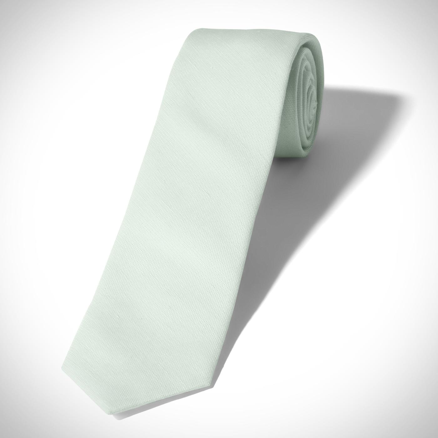 Mint Linen Tie