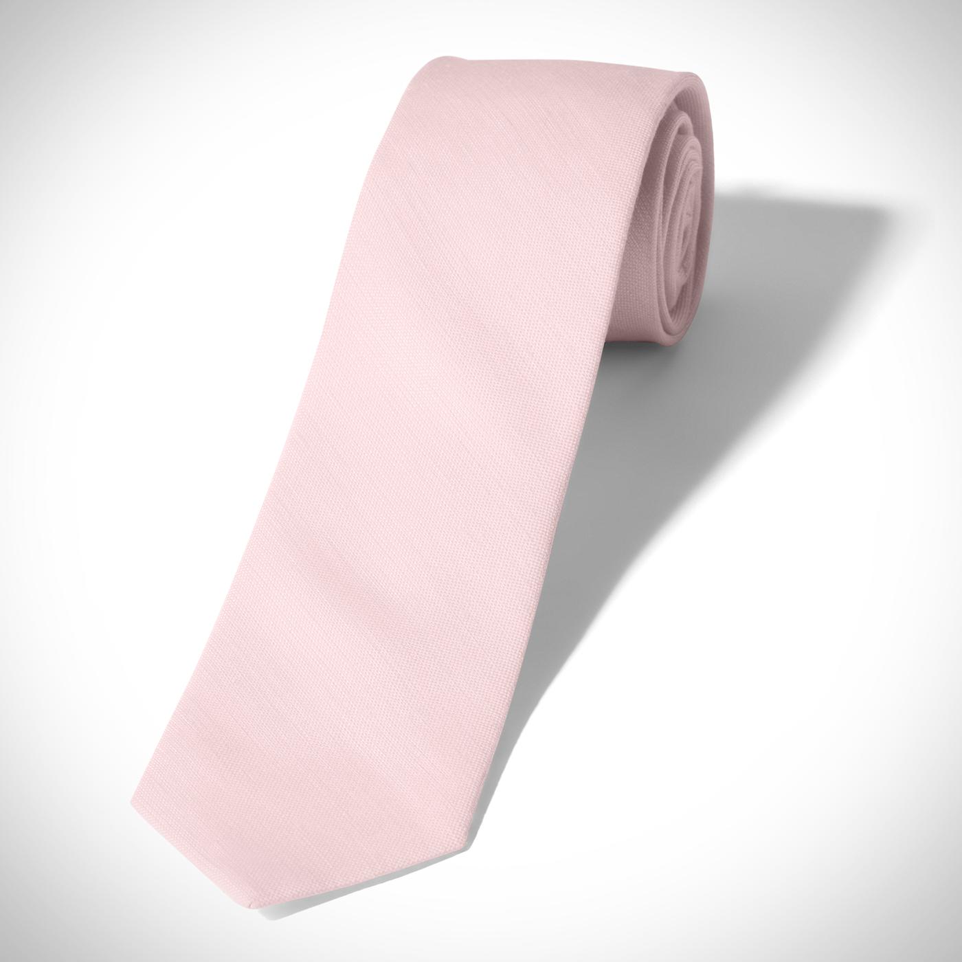 Pink Linen Tie