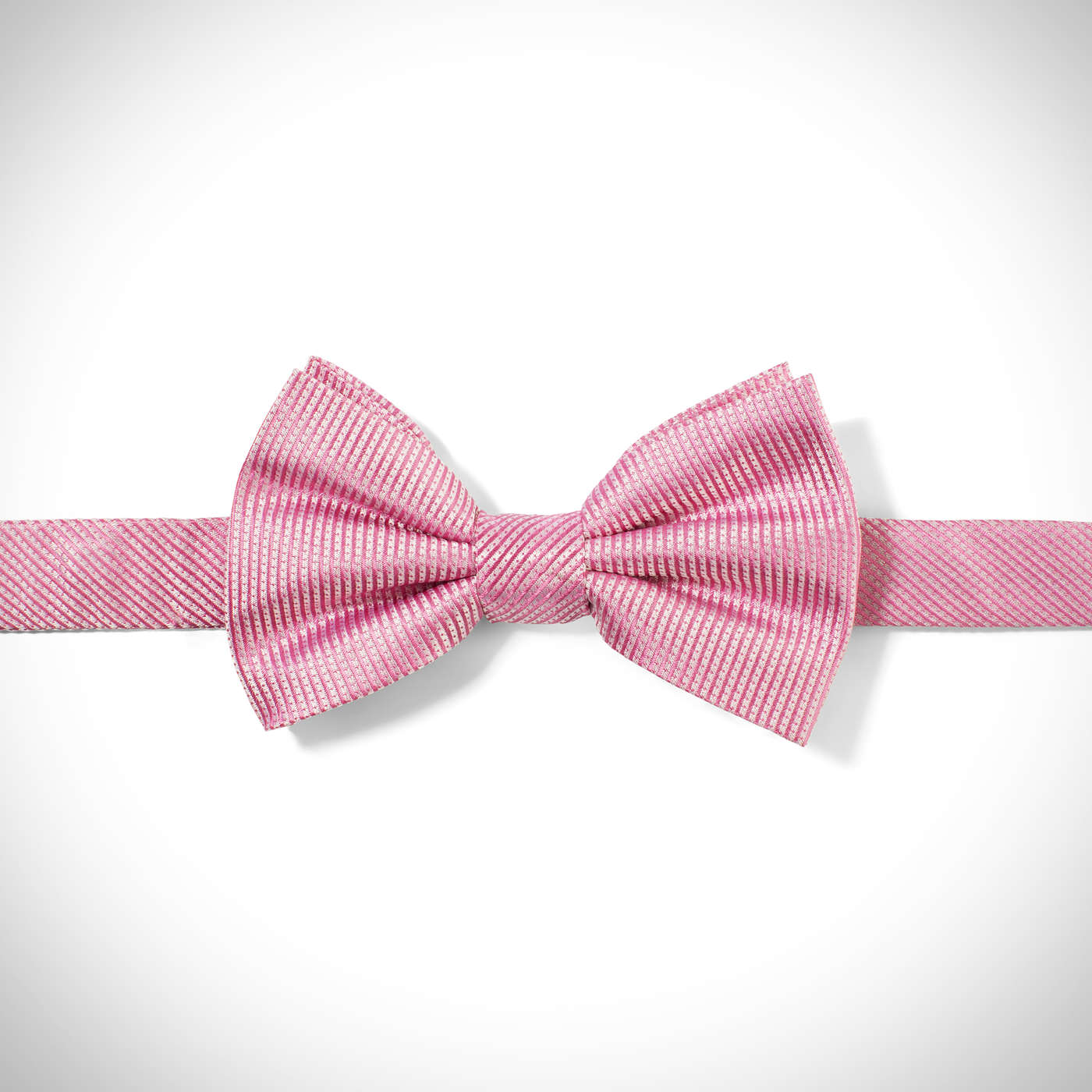 Pink Dobby Pre-Tied Bow Tie