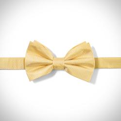 Gold Dobby Pre-Tied Bow Tie
