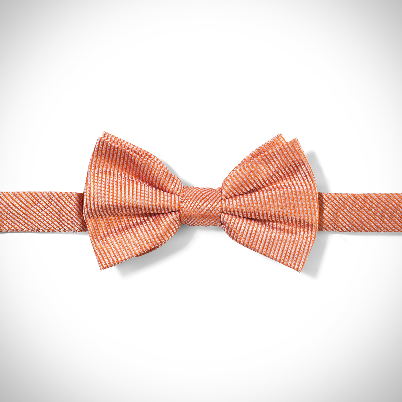 Orange Dobby Pre-Tied Bow Tie