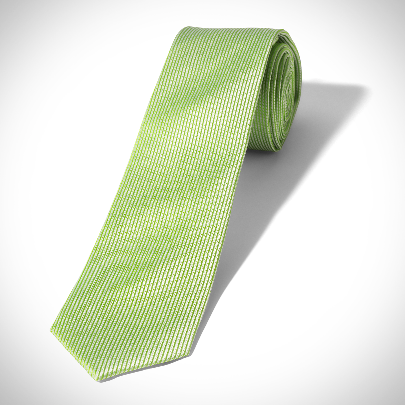 Bright Green Dobby Tie