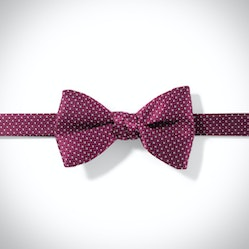 Wine-Sangria and White Pin Dot Pre-Tied Bow Tie