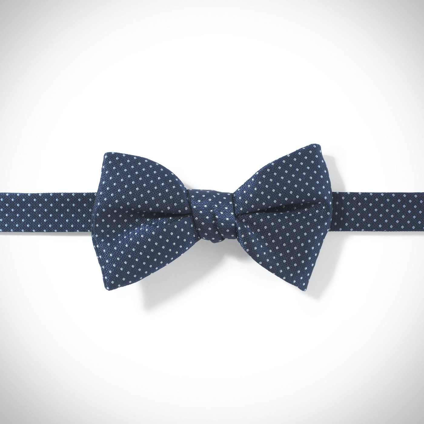 Dark Navy and White Pin Dot Pre-Tied Bow Tie