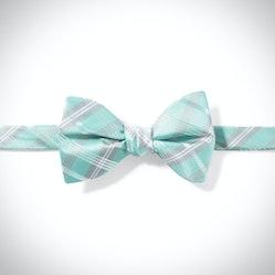 Tiffany Blue Plaid Pre-Tied Bow Tie