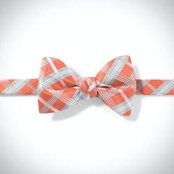 Dark Orange-Jalapeno Plaid Pre-Tied Bow Tie