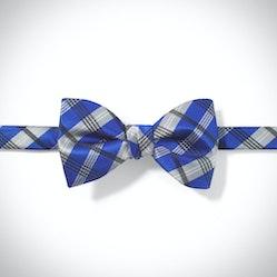 Royal Blue Plaid Pre-Tied Bow Tie