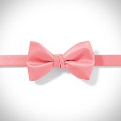 Coral Pre-Tied Bow Tie