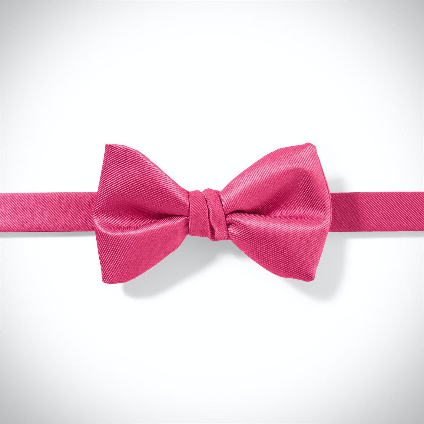 Deep Pink Pre-Tied Bow Tie