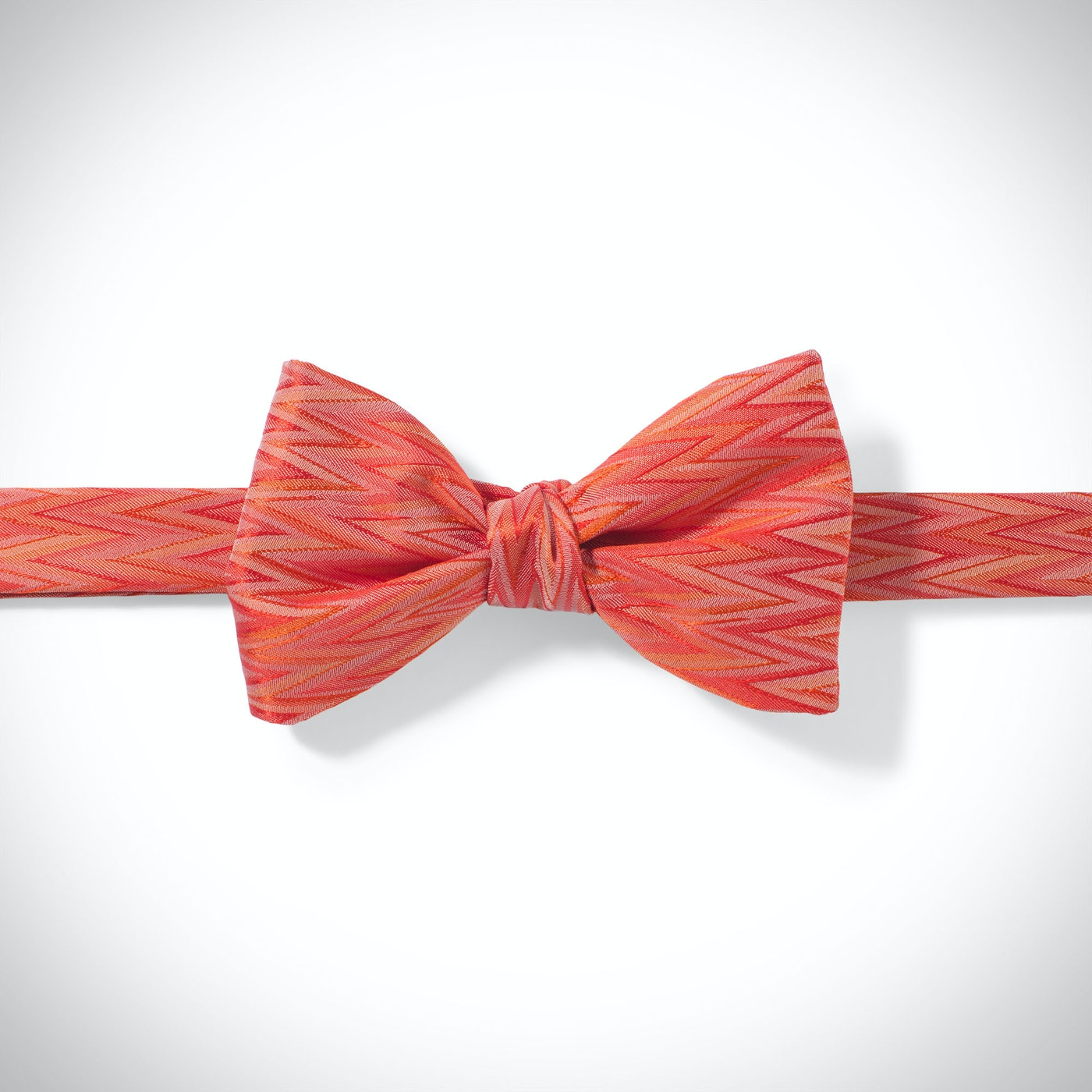 Dark Orange-Jalapeno Zig Zag Pre-Tied Bow Tie