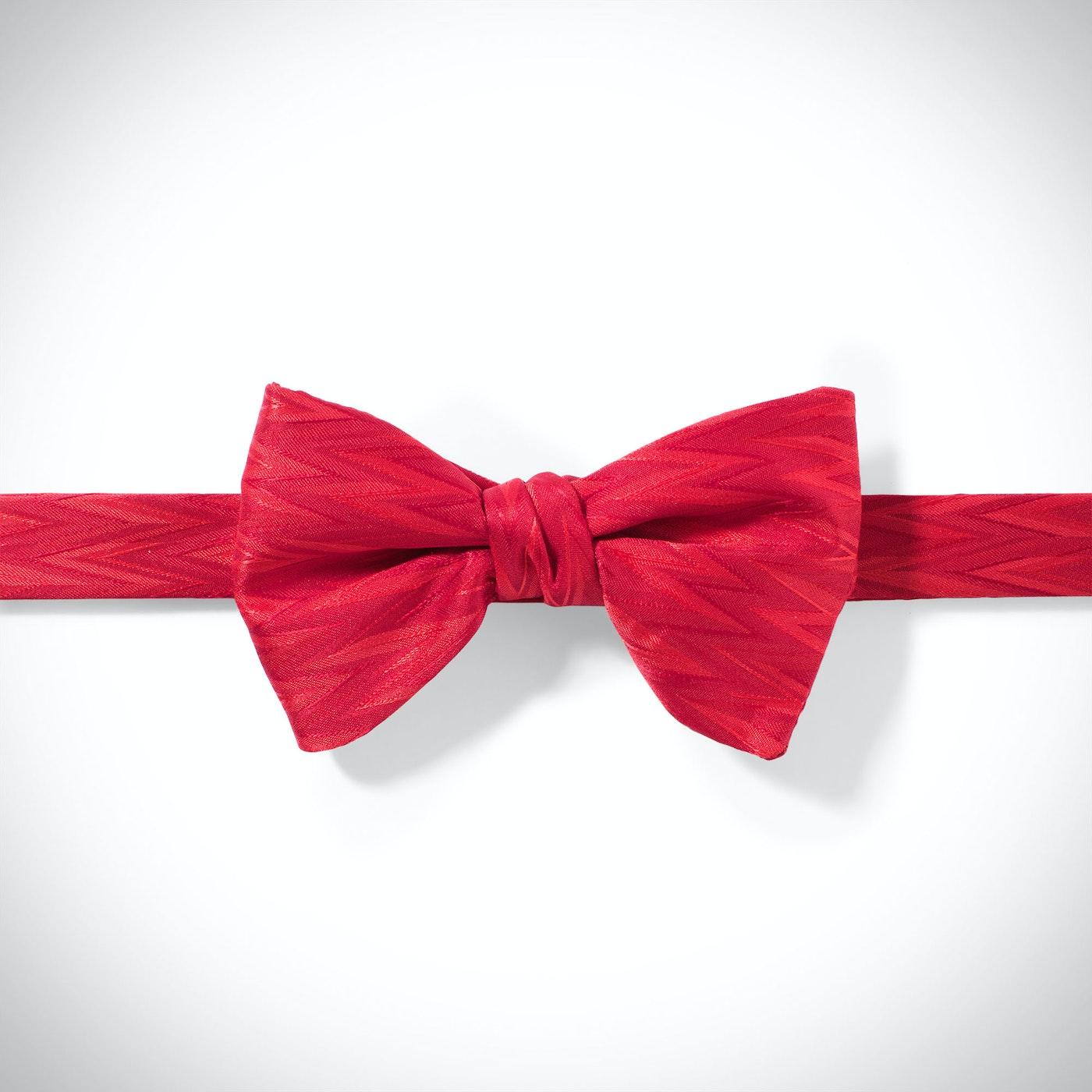 Ruby Valentina Zig Zag Pre-Tied Bow Tie