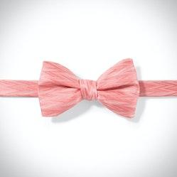 Coral Zig Zag Pre-Tied Bow Tie