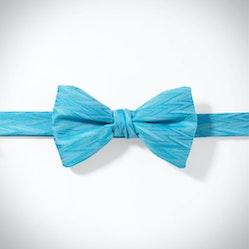 Aqua Zig Zag Pre-Tied Bow Tie