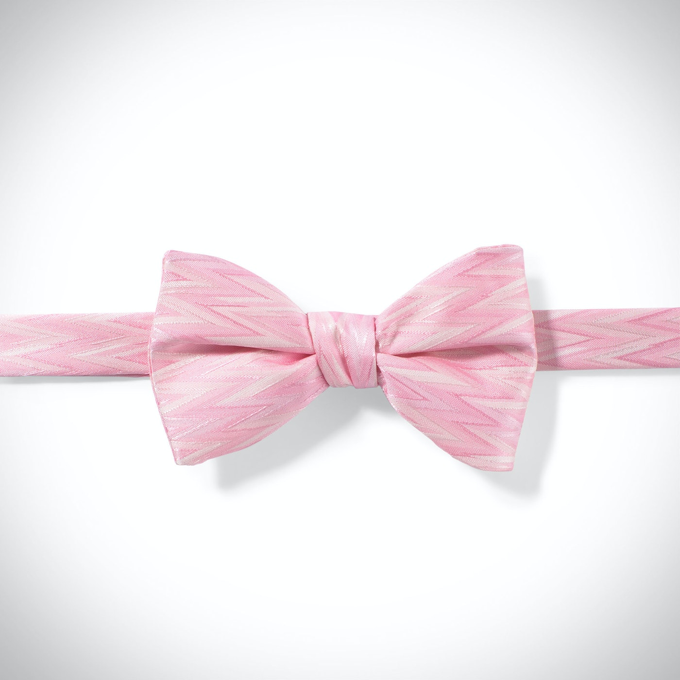 Tickled-Pink Zig Zag Pre-Tied Bow Tie