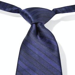 Deep Navy Pre-Tied Striped Tie