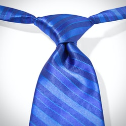 Royal Blue Pre-Tied Striped Tie