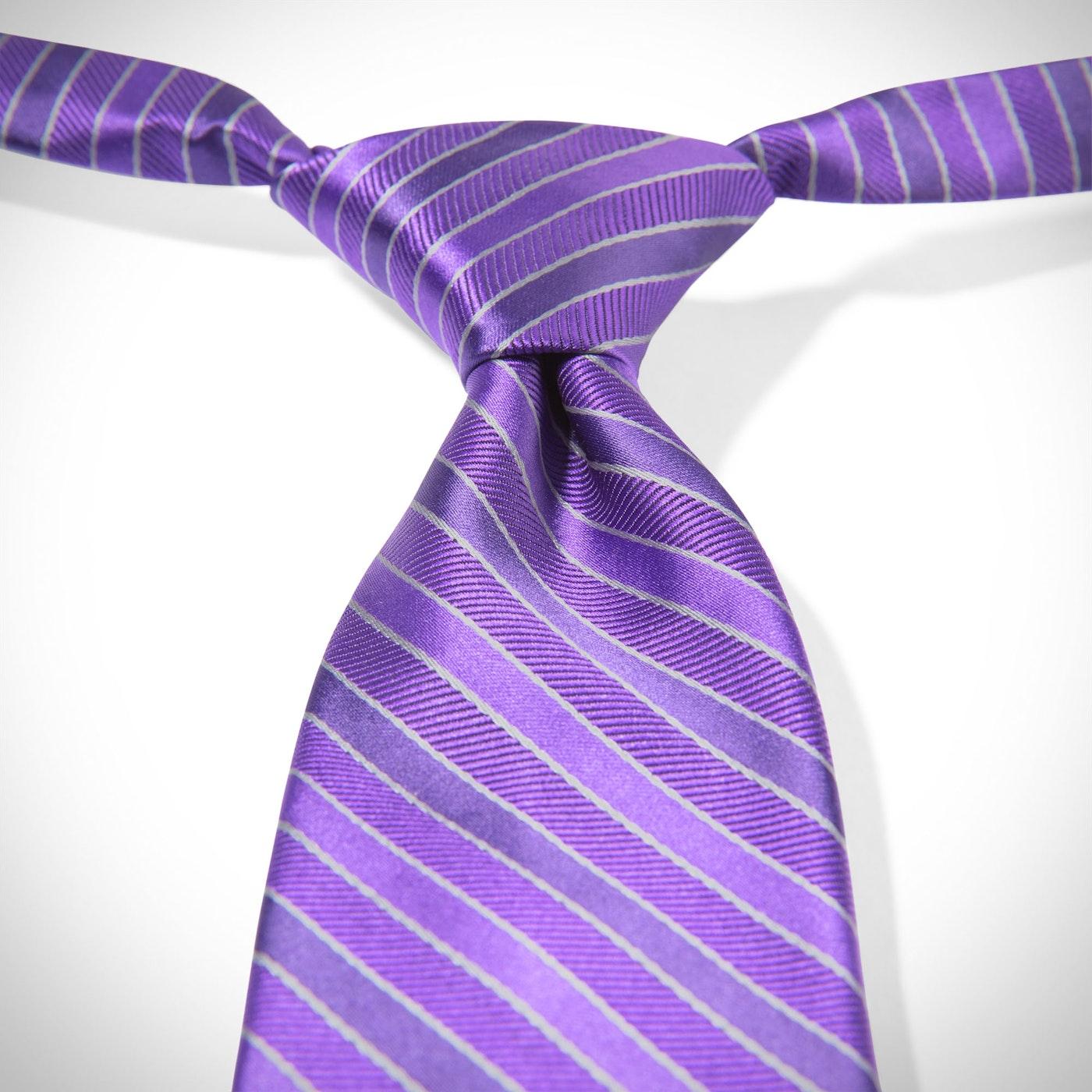 Viola Pre-Tied Striped Tie