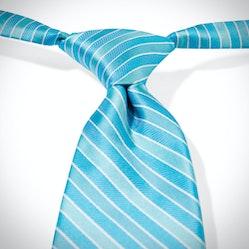 Aqua Pre-Tied Striped Tie