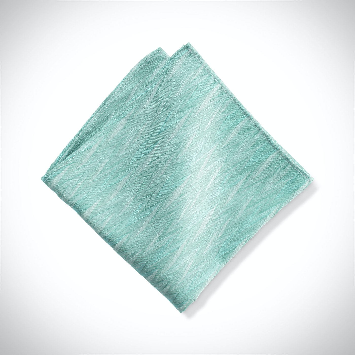 Tiffany Blue Zig Zag Pocket Square