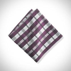 Plum Plaid Pocket Square