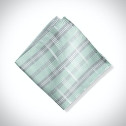 Mint Plaid Pocket Square