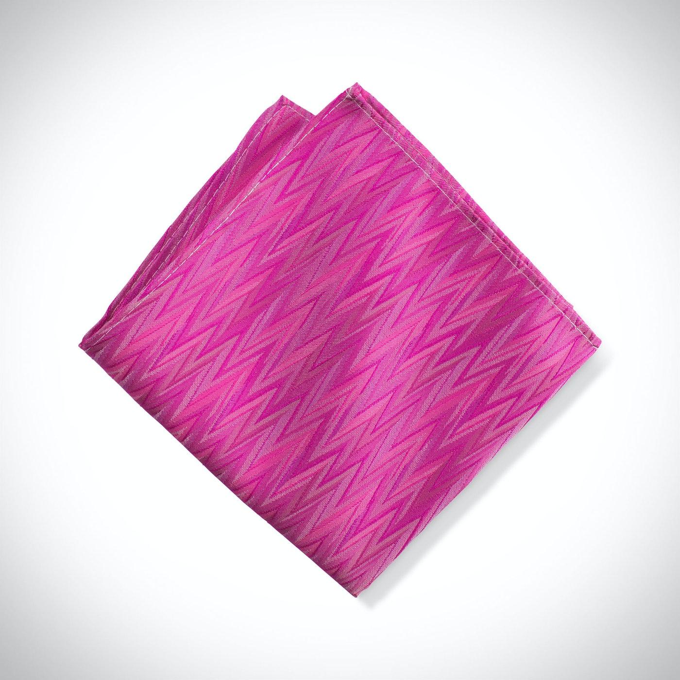 Begonia Zig Zag Pocket Square