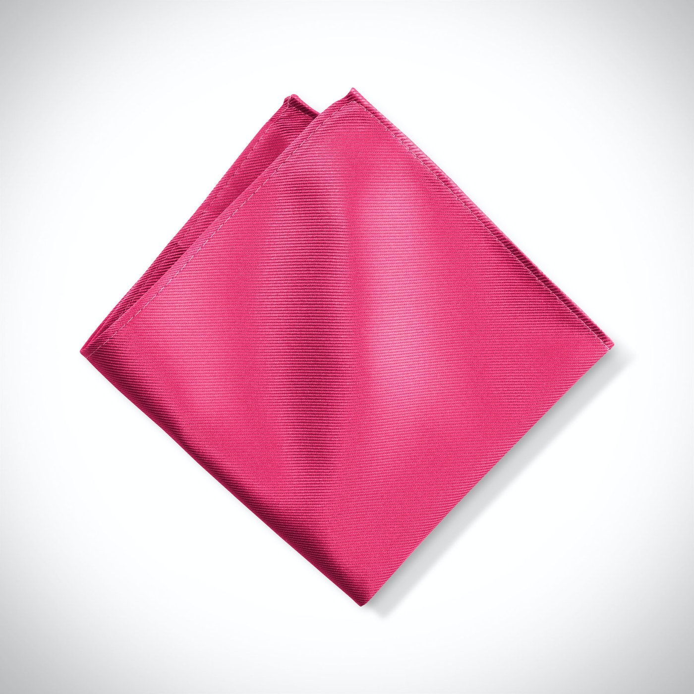 Men's Deep Pink Pocket Square