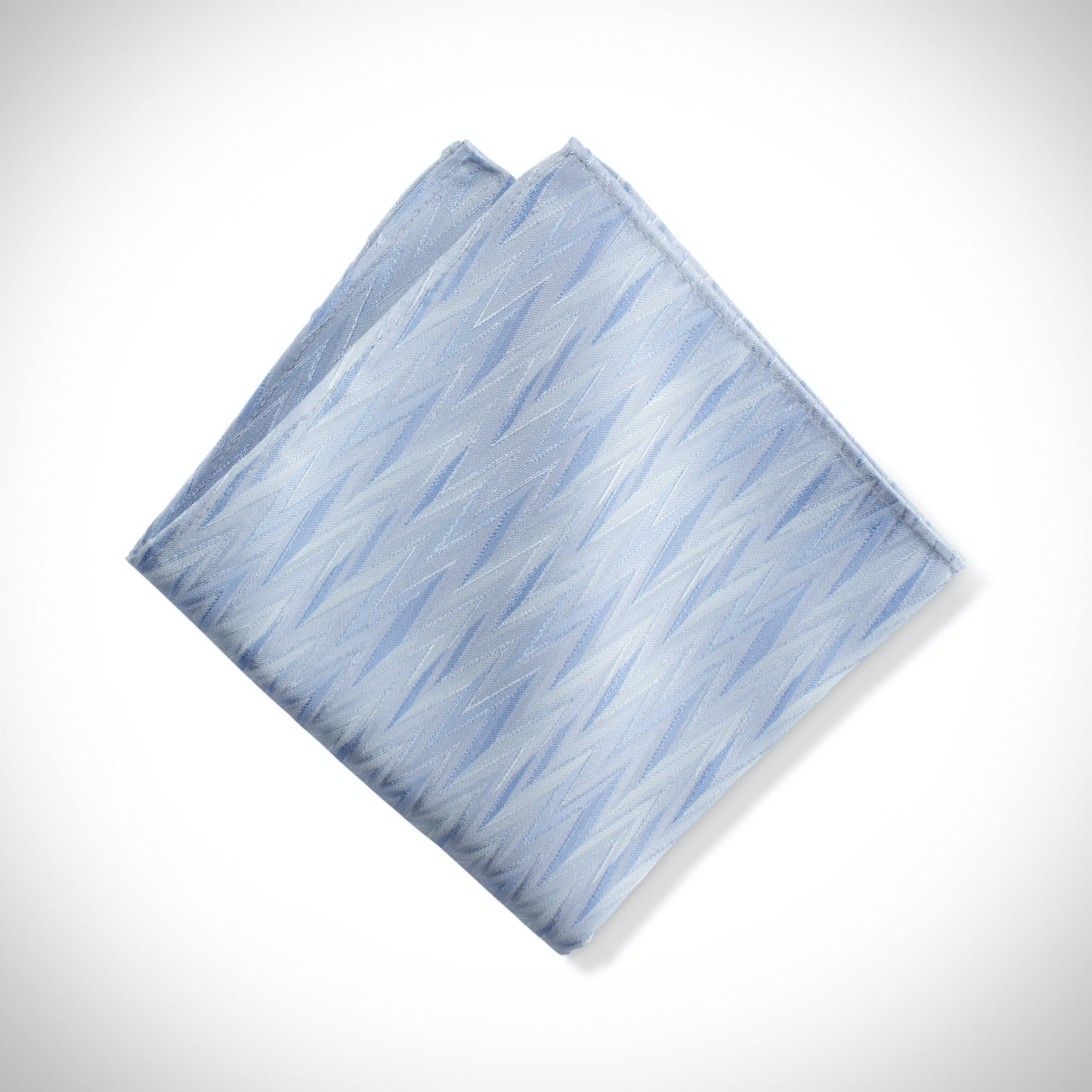 Ice Blue Zig Zag Pocket Square