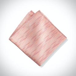 Blush Zig Zag Pocket Square