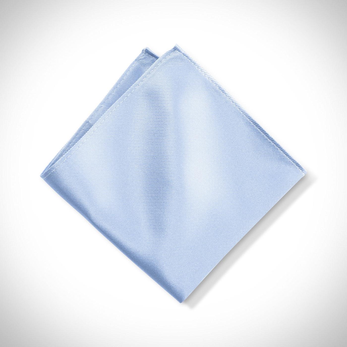 Ice Blue Pocket Square