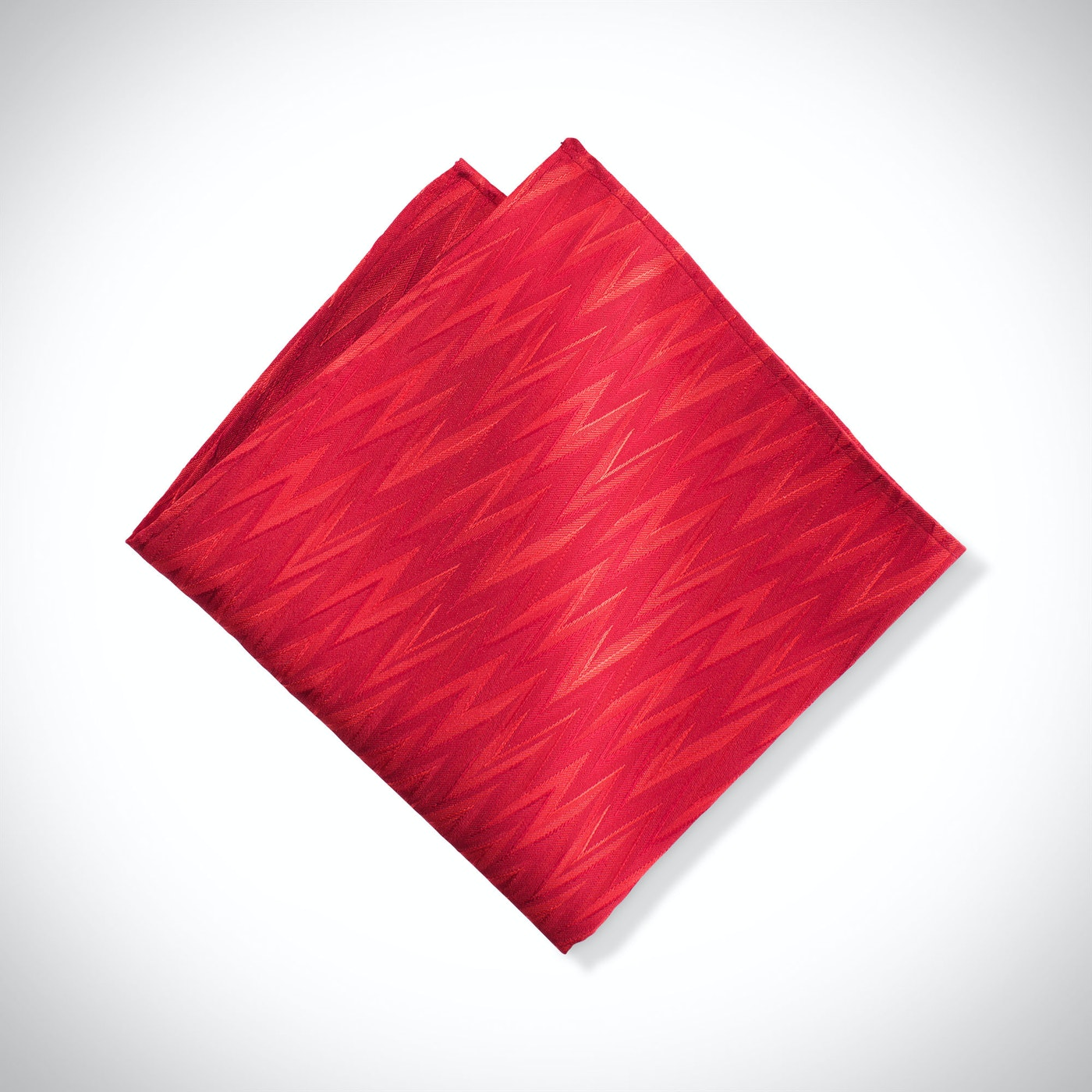 Ruby Zig Zag Pocket Square
