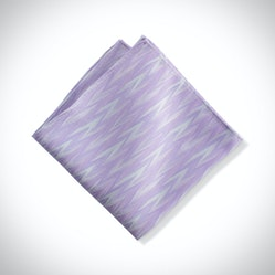 Lilac Zig Zag Pocket Square