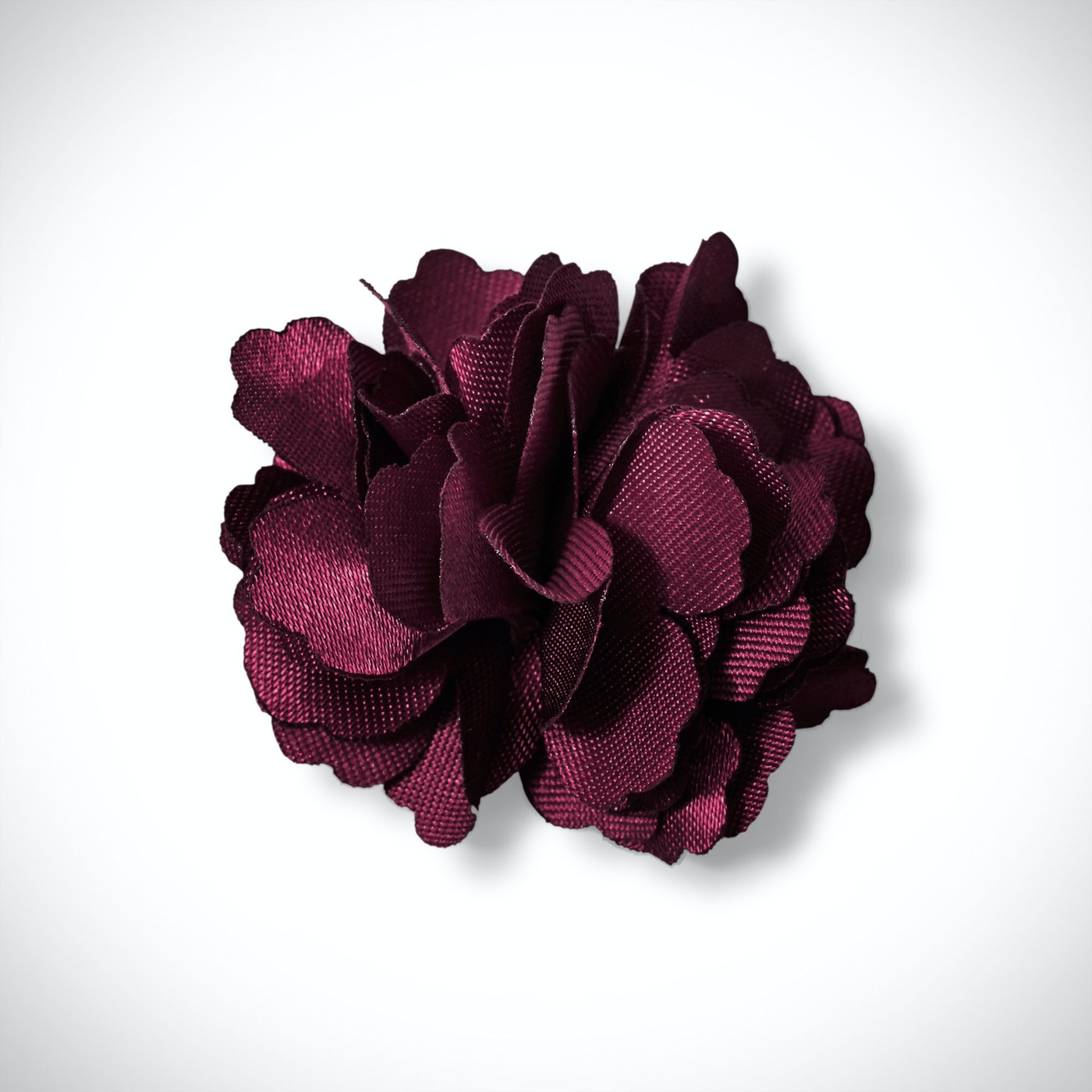 Wine Carnation Lapel Pin