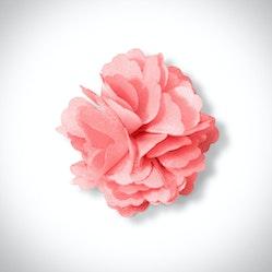 Coral Carnation Lapel Pin