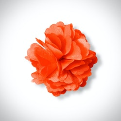 Dark Orange Carnation Lapel Pin