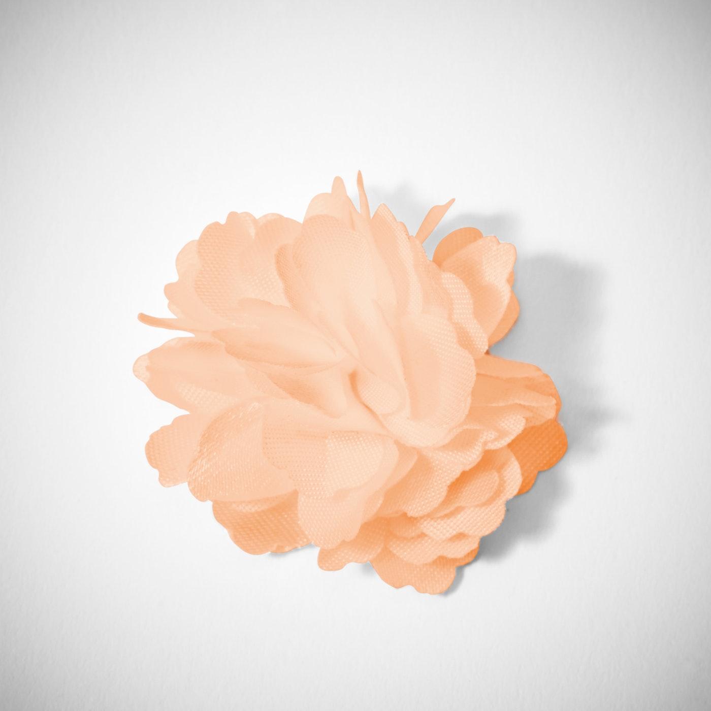 Peach Carnation Lapel Pin