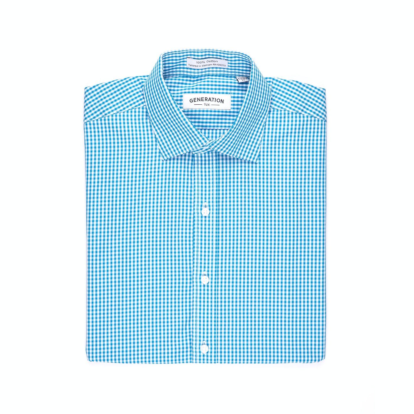 Aqua Gingham Shirt