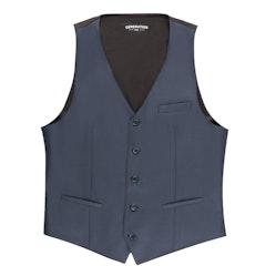 Slate Blue Tailored Suit Vest