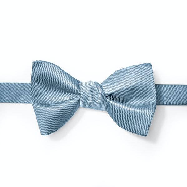 Steel Blue Pre-Tied Bow Tie