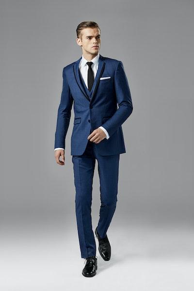 Mystic Blue Edge Lapel Tuxedo