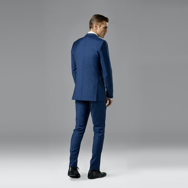 Mystic Blue Edge Lapel Suit