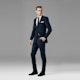 Navy Blue Notch Lapel Suit