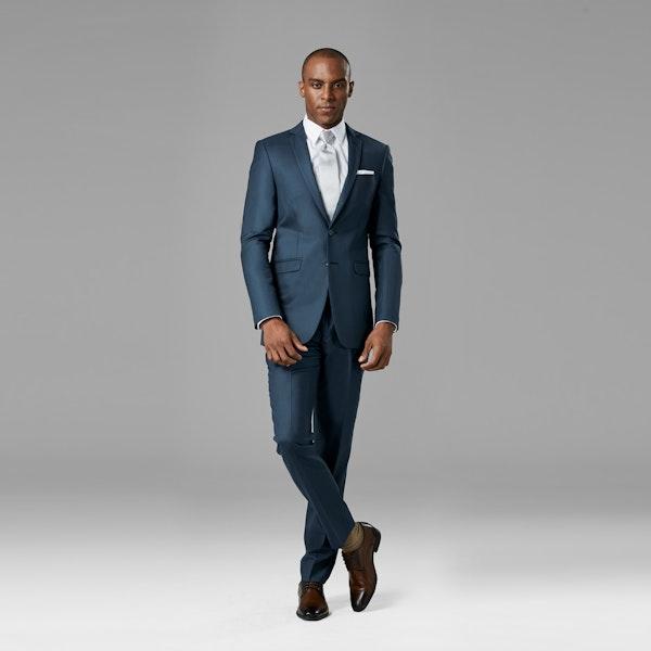 Slate Blue Suit   Blue Wedding Suit Rental   Generation Tux