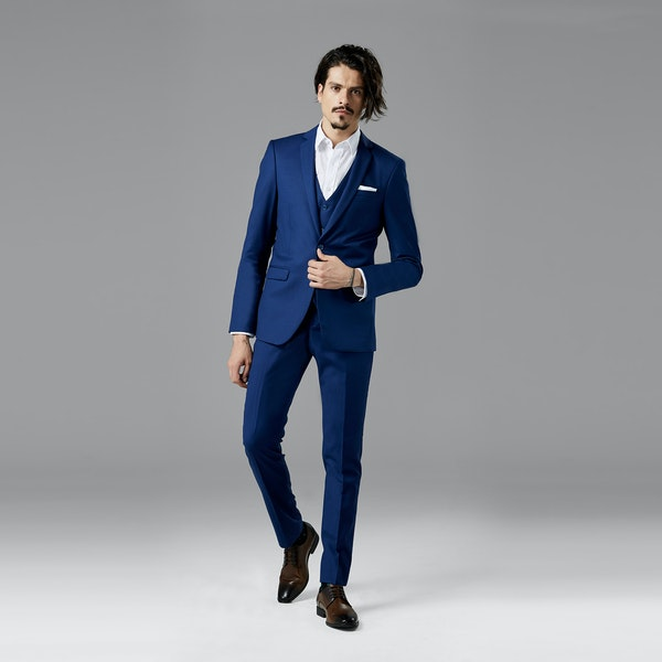 Bright Blue Notch Lapel Suit